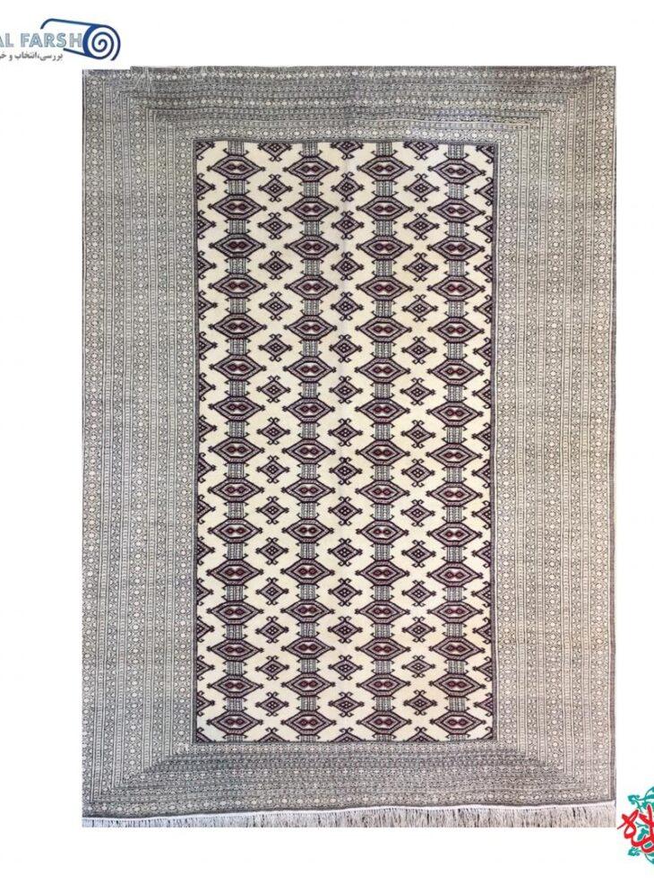 فرش دستبافت جرگلان ترکمنی چله ابریشم کرم