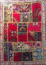 فرش کلاژ تیکه دوزی دستبافت تبریزی ۳ متری