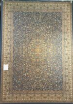 فرش خاطره کویر کاشان ۱۵۰۰ شانه طرح گل افشان  زمینه آبی