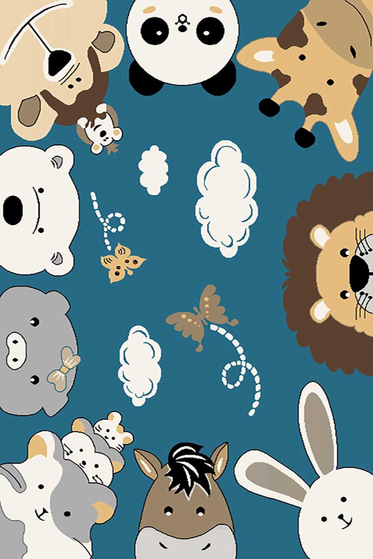 فرش ساوین طرح اتاق کودک حیوانات  کد ۴۰۵۸