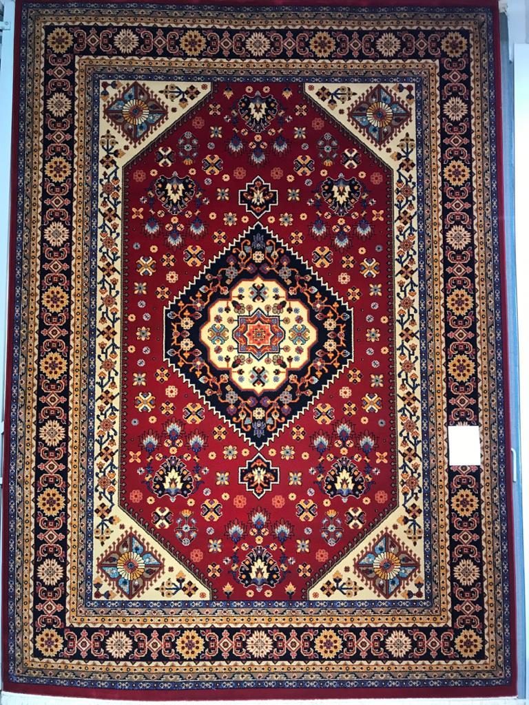 فرش ستاره کویر یزد کلکسیون شاهسون طرح B005 لاکی