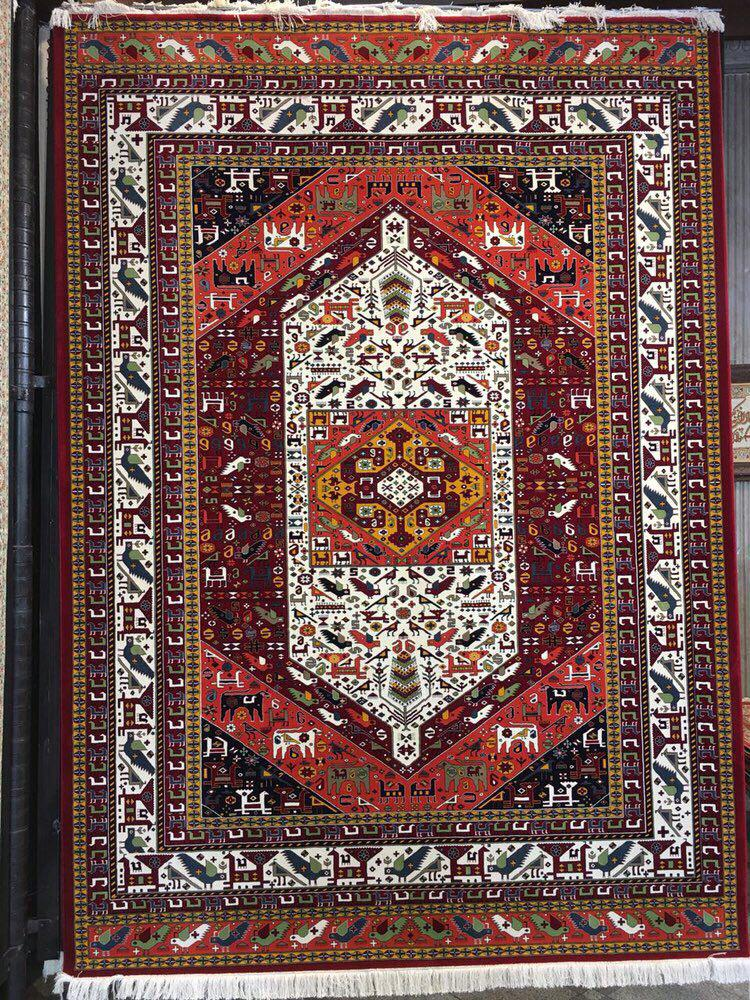 فرش ستاره کویر یزد مدل زهره نوین گبه ۰۲ لاکی