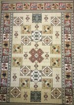 فرش ستاره کویر یزد  گلیم طرح G1910