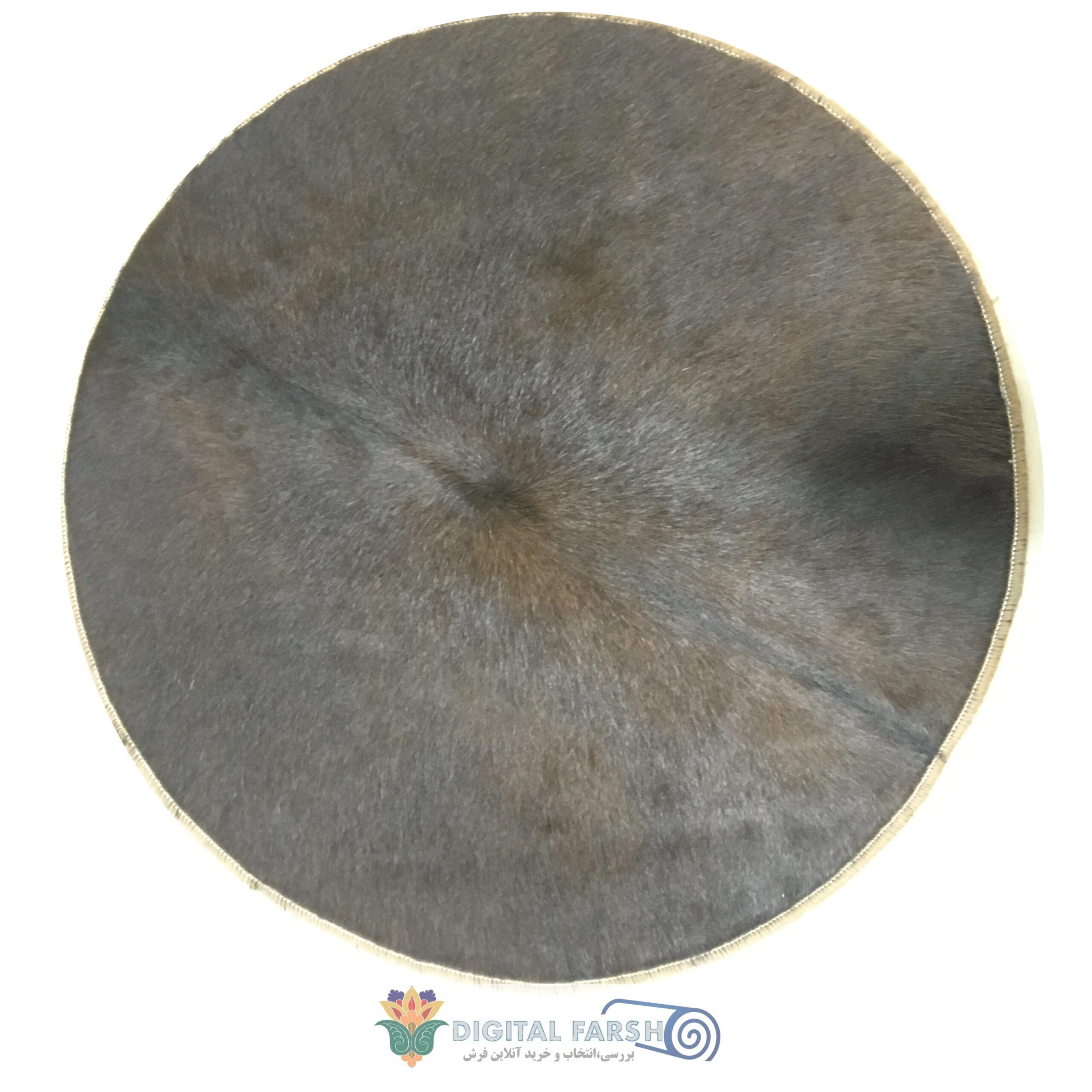 فرش تیکه دوزی پوست طبیعی گاو دایره
