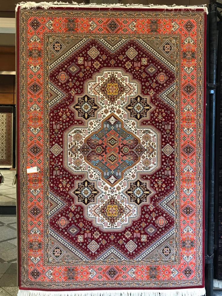 فرش ستاره کویر یزد مدل زهره نوین گبه ۰۳ لاکی
