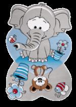 فرش کودک زرباف طرح فیل و فنجون
