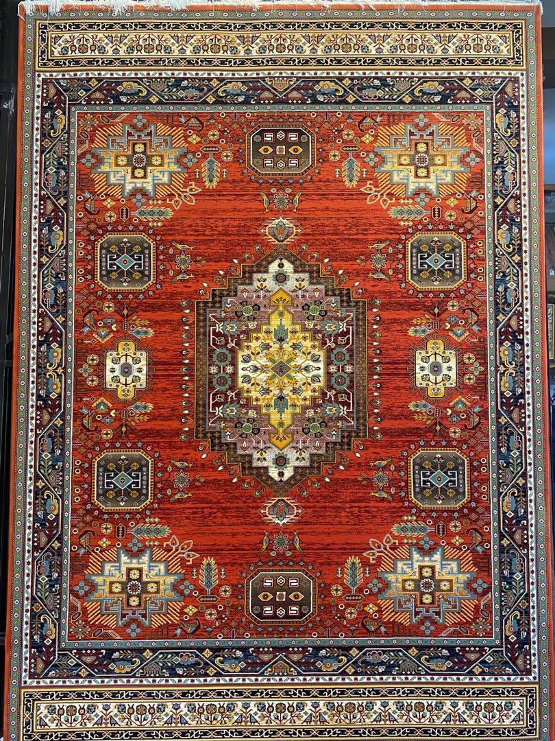 فرش ستاره کویر یزد مدل زهره نوین گبه بلوچ مسی