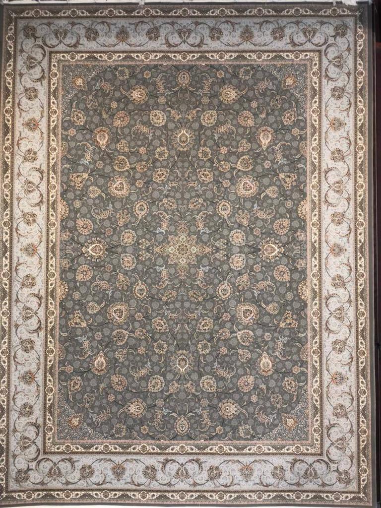 فرش ستاره کویر یزد ۱۵۰۰ شانه افشان دودی