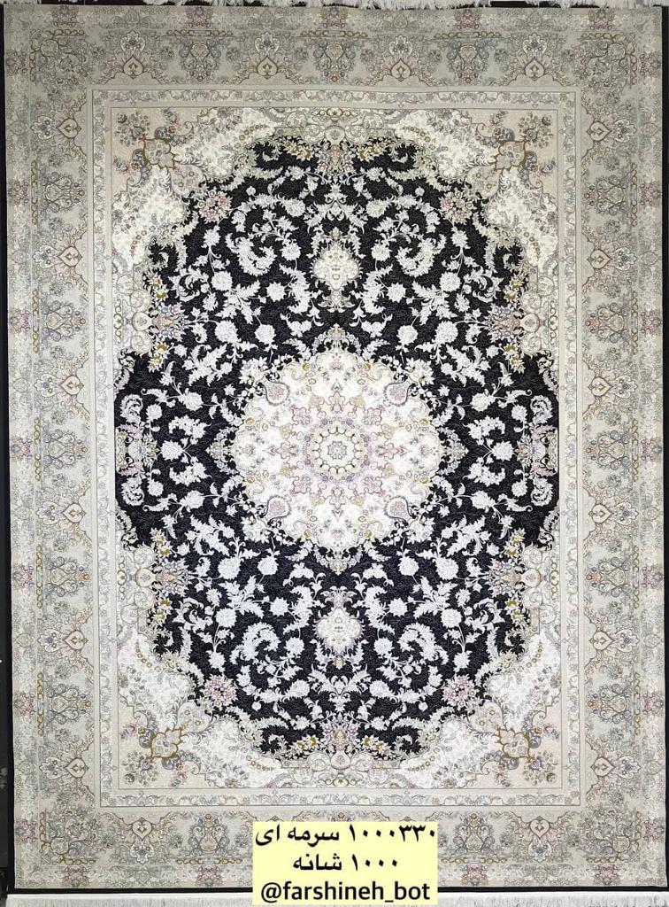 فرش فرشینه کد ۱۰۰۰۳۳۰ سرمه ای