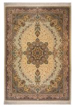 فرش پاتریس طرح ابریشم کرم