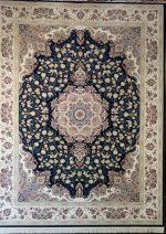 فرش قالی سلیمان طرح پونه سرمه ای