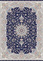 فرش قالی سلیمان طرح برکه سرمه ای
