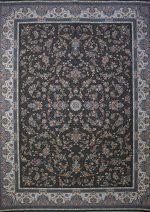 فرش پاتریس طرح افشان سی گل ۱۵۰۰ شانه طوسی