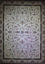 فرش پاتریس طرح افشان سی گل ۱۵۰۰ شانه کرم
