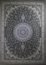فرش پاتریس طرح الماس ۱۵۰۰ شانه طوسی