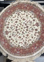 فرش دایره رادین اصفهان طرح افشان صدفی