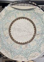 فرش دایره ساوین کد ۱۵۰۵ زمینه آبی