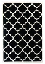 فرش ساوین ۴۰۴۵ طرح مراکشی مشکی