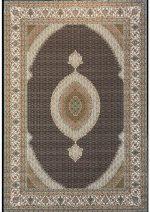 فرش ستاره کویر یزد مدل ایساتیس کد I-006 زمینه قهوه ای