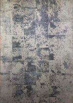 فرش ماشینی آرمانی  طرح پلاتینیوم کد ۵۰۰۴ زمینه طوسی
