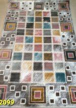 فرش آرمانی آذین ۲۰۹۹ چهارخونه رنگی