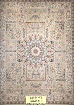 فرش کاخ کد طرح ۴۰۰۵۳ کرم ۱۵۰۰ شانه