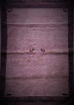 فرش گبه  دستبافت ۱٫۵ متری پشم دست ریس