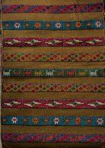گلیم فرش  دستبافت ۱٫۵ متری طرح ترکمن جرگلانی خراسان شمالی رنگ سبز