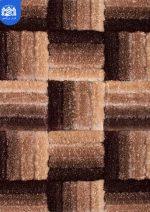 فرش شگی سه بعدی بزرگمهر ۵۰۸۵ قهوه ای