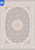 فرش بزرگمهر ۱۲۰۰ شانه برجسته کد ۱۴۱۰۳  نقره ای