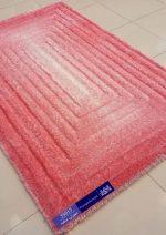 فرش شگی سه بعدی بزرگمهر ۵۰۱۵صورتی سفید