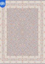 فرش بزرگمهر ۱۲۰۰ شانه برجسته کد ۱۴۱۰۴ نقره ای