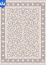 فرش بزرگمهر ۱۲۰۰ شانه برجسته کد ۱۴۱۲۹  نقره ای روشن