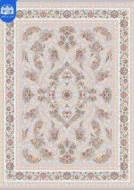 فرش بزرگمهر ۱۲۰۰ شانه برجسته کد ۱۵۱۱۰ نقره ای