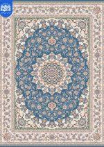 فرش بزرگمهر ۱۲۰۰ شانه برجسته کد ۱۵۱۱۱ آبی