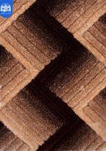 فرش شگی سه بعدی بزرگمهر ۵۰۸۴ قهوه ای
