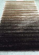 فرش شگی سه بعدی بزرگمهر۵۰۷۱ قهوه ای