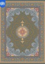 فرش بزرگمهر ۱۲۰۰ شانه برجسته کد ۱۴۱۰۱ آبی