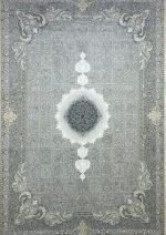 فرش جردن کلکسیون کلاسیک وینتیج طرح سیمرغ نقره ای روشن