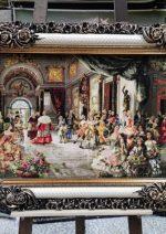 تابلو فرش عروسی پاپ